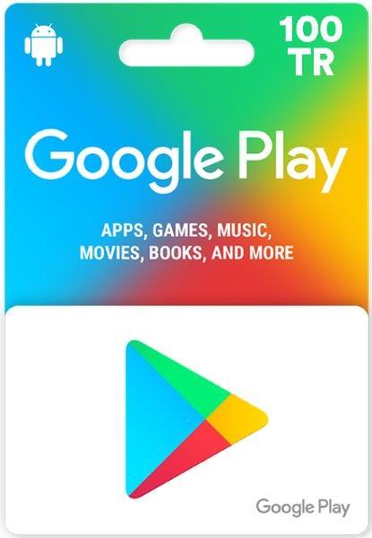 Google Play 100 TL Turkiye